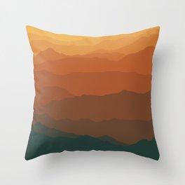 Ombré Range No. 3 Throw Pillow
