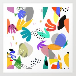 MATISSE ABSTRACT CUTOUTS Art Print