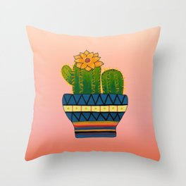 Cactus Painting Throw Pillow