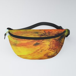 Sunflower on colorful watercolor background - Flowers Fanny Pack
