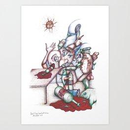Don't Cry Over Spilt Wine  2013 Art Print