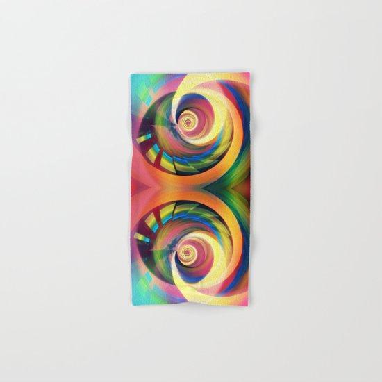 Spinning rainbow Hand & Bath Towel