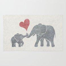 Elephant Hugs Rug