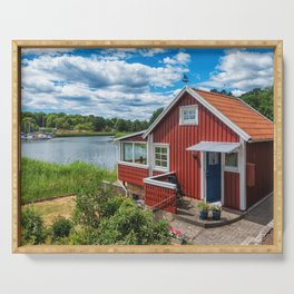 Swedish national summer house Serving Tray