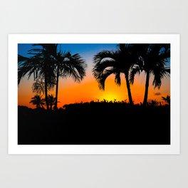 Sunset in Nassau Art Print