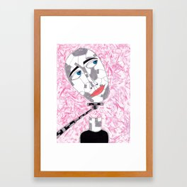 Selfie-Stick Framed Art Print