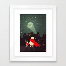 The city needs love Framed Art Print