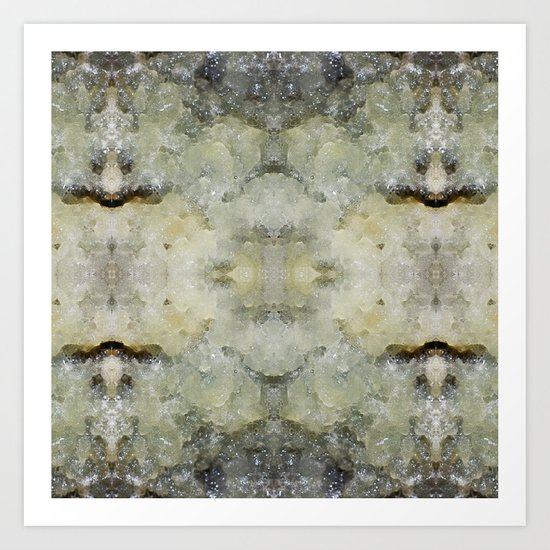 Abstract marble pattern Art Print