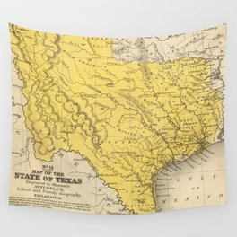 Vintage Map of Texas (1847) Wall Tapestry