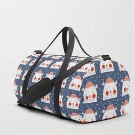 Christmas Bear with fairy lights no2 Duffle Bag