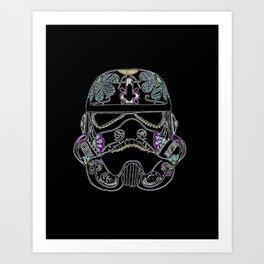 Day of the dead Storm Trooper head Art Print