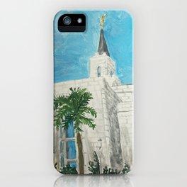 San Salvador El Salvador LDS Temple iPhone Case
