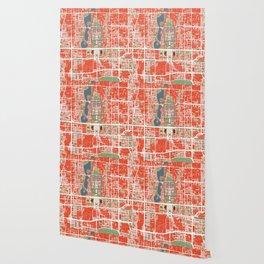 Beijing city map classic Wallpaper