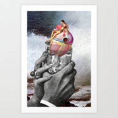 Heart on the Rocks Art Print
