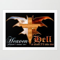Heaven & Hell Bat Art Print