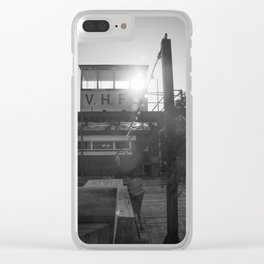 Le Touquet in black and white, February Clear iPhone Case