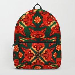 Fox Cross geometric pattern Backpack