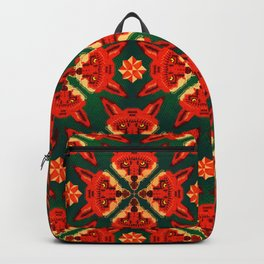 Fox Cross geometric pattern Backpack