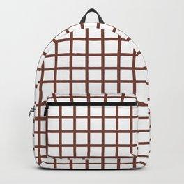 Grid (Maroon & White Pattern) Backpack