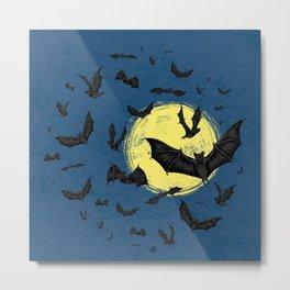 Bat Swarm Metal Print