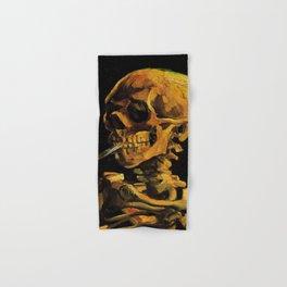 Van Gogh, Skull of a Skeleton with Burning Cigarette  – Van Gogh,Vincent Van Gogh,impressionist,post Hand & Bath Towel