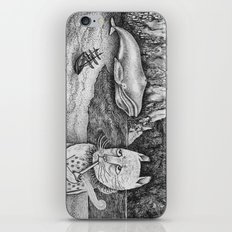 The Whale, The Castle & The Smoking Cat iPhone & iPod Skin