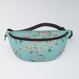Length of painted silk mid-18th century Chinese Fanny Pack