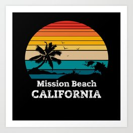 Mission Beach CALIFORNIA Art Print