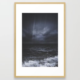 Lost in the sea Framed Art Print