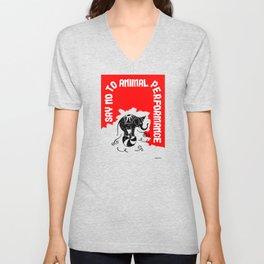 Say NO to Animal Performance – Elephant Unisex V-Neck