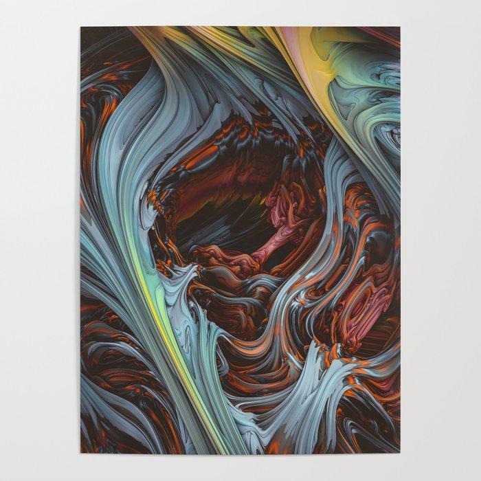 Glacial Mass II. Wind & Fire 3D Abstract Art Poster