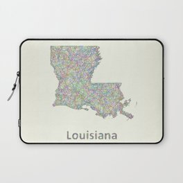 Louisiana map Laptop Sleeve