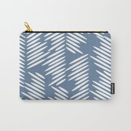 Leaves abstract in blue Carry-All Pouch