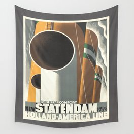Vintage poster - Statendam Wall Tapestry