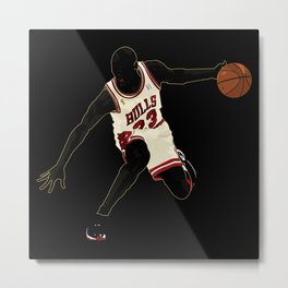 Jordan A Design Poster of Air Jordan 1's 23 Metal Print