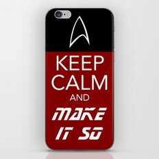 Keep Calm and Make It So iPhone & iPod Skin