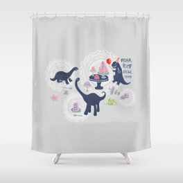 Dinosaur Jello Debutante Party Shower Curtain