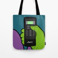 hulk Tote Bags featuring hulk by mark ashkenazi