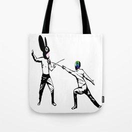 music battle fencing Tote Bag