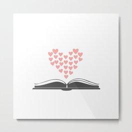 Loving Books Metal Print