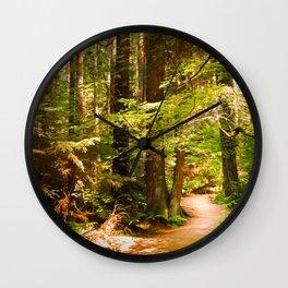 Golden Curves Wall Clock