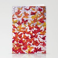 butterflies Stationery Cards featuring Butterflies by Lia Bernini
