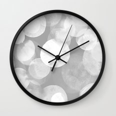 Confetti paint FOUR Wall Clock