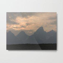 Grand Tetons at Sunset Metal Print