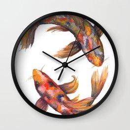 A Pair of Koi Carp Wall Clock