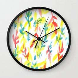 170814 Leaves Watercolour 3 Wall Clock