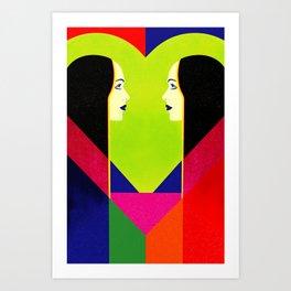 Love Reflection Art Print