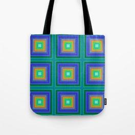 Vibrant Gridwork Tote Bag