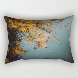 Autumn Copper + Teal Rectangular Pillow