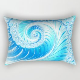 Frozen Vortex Rectangular Pillow